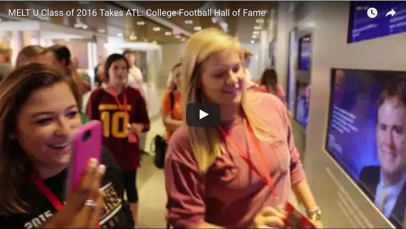 MELT U Class of 2016 Takes ATL: College Football Hall of Fame